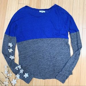 MADEWELL Cafe Colorblock long sleeved top, M.